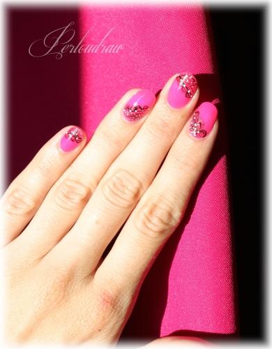 Vernis Indigo - Neon pink (deco 2)