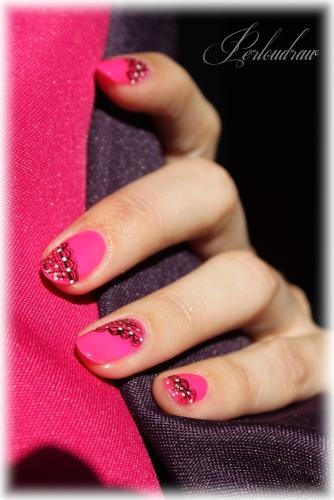 Vernis Indigo - Neon pink (deco 3)